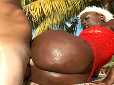 Sergio, Tyran - blowjob, big ass, outdoors, black, chubby, cumshot, hardcore
