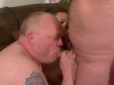 threesome, chubby, cumshot, mature